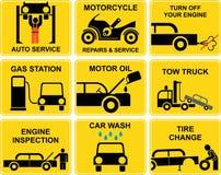 Icone dell'automobile: Servizio automatico Immagini Stock Libere da Diritti