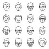 Icone dell'avatar degli uomini Illustrazione di vettore dei caratteri degli uomini illustrazione di stock