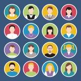 Icone dell'avatar messe Fotografia Stock Libera da Diritti
