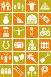 Icone dell'azienda agricola Fotografie Stock
