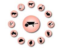 Icone 2 dell'azienda agricola Immagini Stock Libere da Diritti