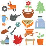 Icone dell'azienda agricola Immagine Stock