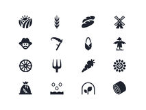 Icone dell'azienda agricola Serie di Lyra Immagine Stock Libera da Diritti