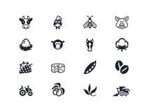 Icone 2 dell'azienda agricola Serie di Lyra Immagini Stock