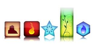 Icone dell'elemento di Gloosy Fotografia Stock
