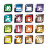 Icone dell'elemento di Halloween illustrazione di stock