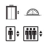 Icone dell'elevatore, segni illustrazione di stock