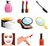 Icone dell'estetica e di bellezza illustrazione di stock