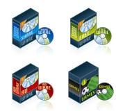 Icone dell'hardware di calcolatore impostate Immagine Stock