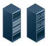 Icone dell'hardware di calcolatore impostate - progetti gli elementi 55l Immagine Stock