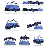 Icone dell'Himalaya illustrazione di stock