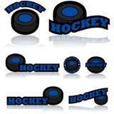 Icone dell'hockey illustrazione di stock