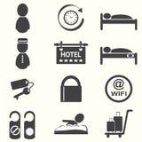 Icone dell'hotel Fotografia Stock Libera da Diritti