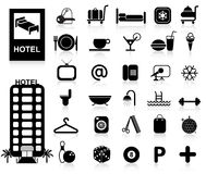 Icone dell'hotel impostate illustrazione di stock