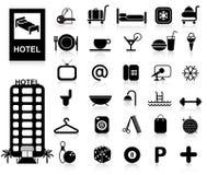 Icone dell'hotel impostate Fotografia Stock Libera da Diritti