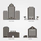 Icone dell'hotel impostate Immagine Stock Libera da Diritti