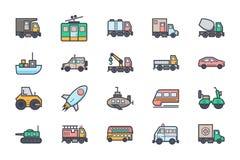 Icone 2 dell'illustrazione di trasporto illustrazione di stock
