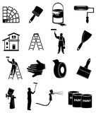 Icone dell'imbianchino messe Fotografia Stock Libera da Diritti