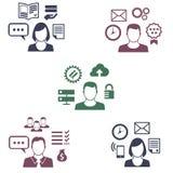 Icone dell'impiegato differente con la loro specializzazione Illustrazione di Stock