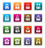 Icone dell'incarnazione (multicultures) - serie dell'autoadesivo Immagini Stock Libere da Diritti