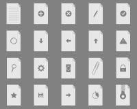 Icone dell'insieme di nuovo archivio Immagini Stock