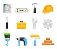 Icone dell'insieme di strumento Immagine Stock