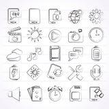 Icone dell'interfaccia del telefono cellulare Immagini Stock