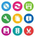 Icone dell'interfaccia di base di colore Immagine Stock Libera da Diritti
