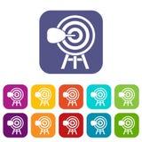 Icone dell'obiettivo messe Immagini Stock Libere da Diritti