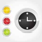 Icone dell'orologio. Immagine Stock Libera da Diritti