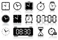 Icone dell'orologio Fotografie Stock