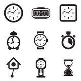 Icone dell'orologio Fotografia Stock Libera da Diritti