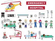 Icone dell'ospedale Fotografia Stock