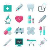 Icone dell'ospedale e mediche impostate Immagine Stock