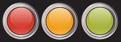 icone dell'Traffico-indicatore luminoso Immagini Stock