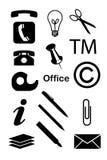 Icone dell'ufficio Fotografie Stock