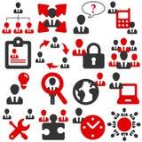 Icone dell'ufficio Immagini Stock