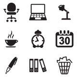 Icone dell'ufficio Immagine Stock Libera da Diritti