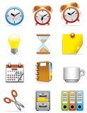 Icone dell'ufficio Fotografia Stock