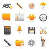 Icone dell'ufficio | Colore giallo 09 Immagini Stock