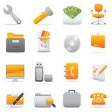 Icone dell'ufficio | Colore giallo 11 Fotografia Stock
