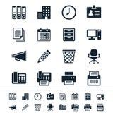 Icone dell'ufficio e di affari Fotografia Stock