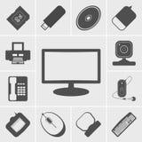 Icone dell'ufficio e di affari illustrazione di stock