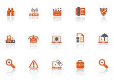 Icone dell'ufficio e di Web Fotografia Stock Libera da Diritti