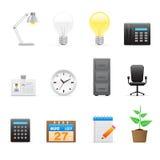 Icone dell'ufficio impostate Immagine Stock