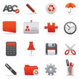 Icone dell'ufficio impostate | Serie rosso 01 Immagine Stock Libera da Diritti