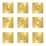 Icone dell'ufficio | Quadrato Bronze 04 Immagine Stock