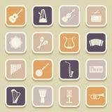 Icone dell'universale degli strumenti musicali royalty illustrazione gratis