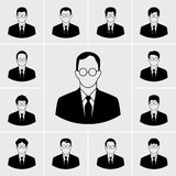 Icone dell'uomo di affari messe royalty illustrazione gratis
