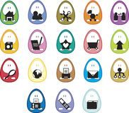 Icone dell'uovo Immagini Stock